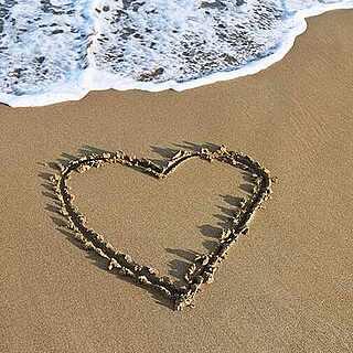 Herz im Sand am Strand von TUI BLUE