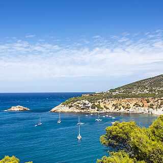 Aussichtspunkt Cala d'hort Ibiza Balearen