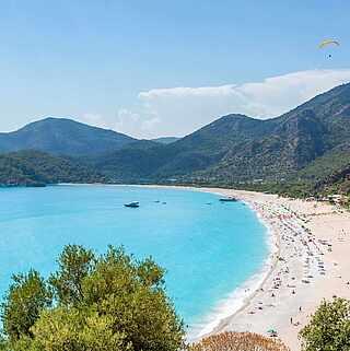 Strand von Iztuzu blaues Meer Türkei