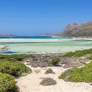 Wunderschöner Ausblick auf die Gramvoussa Bay auf Kreta