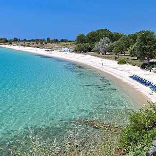 Wunderschöner Sandstarnd in Chalkidiki Griechenland