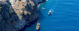 Felsen Meer Boot Ausflug